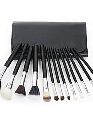 13Pcs South Korea Imported Nylon Hair Cosmetic Brush Set Black Bag