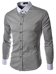 Menmax Herrenmode Revers Neck Shirt