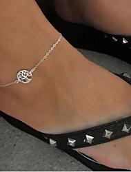 moda prata shixin® forma de árvore tornozeleira (1 pc) jóias
