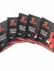 5Pcs Mild steel rope in The Violin String S128 Alloy Set Fit For 1/8-4/4 Violin