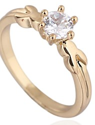 Women's New Fashion 18K Gold Plated Rabbit Ear Design Zircon Ring J27003