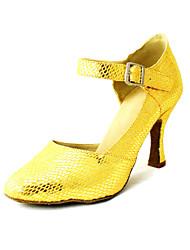 linhas de serpente das mulheres personalizadas superior sapatos de dança latina de salto com buckie