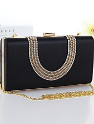 Women's Leather hand bag evening bag diamond hard shell stereotypes