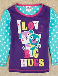 Girl's Tee,Cotton Winter / Spring / Fall Purple