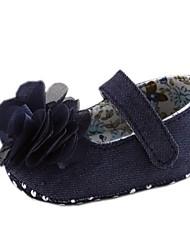 Zapatos de bebé - Planos - Casual - Algodón - Blanco / Azul Marino