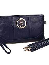 Women's Fashion Genuine Leather Messenger Day Clutch