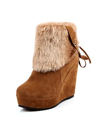 Women's Wedge Heel Wedges Boots Mid-Calf Boots (More colors)