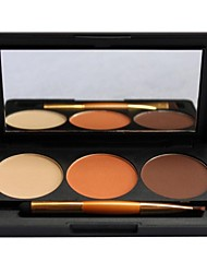 3 Eyeshadow Palette Dry / Matte / Shimmer / Mineral Eyeshadow palette Powder Normal