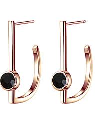Rencontrez-vous D en forme de 18K Rose plaquée or Boucles d'oreilles