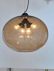 Glass Flush Mount Light con 3 luces