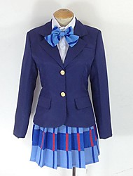 Inspired by Love Live Maki Nishikino Anime Cosplay Costumes Cosplay Suits Plaid Purple Long Sleeve Coat / Shirt / Skirt