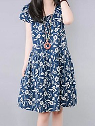 Maternitiy Casual Printing Color Loose Dress