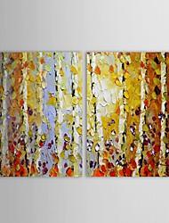 iarts®hand retrato da parede pintada Aspen paisagem pintura a óleo com esticada conjunto de quadros de 2