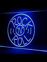 Rock Roll Musics Werbung LED-Licht Anmelden