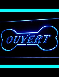 Food Served Ouvert Advertising LED Light Sign