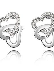 Mengguang Women's Diamonade Charming Crystal Earrings