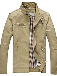 Men's Casual Bodycon Stand Collar Jacket Outerwear