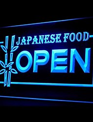 Japanese Food Open Promotion Green Blue Red White Orange Purple Yellow Advertising LED Light Sign