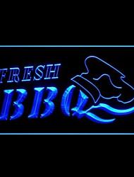 Frais BBQ alimentaire Promotion Vert Bleu Rouge Blanc Orange Violet Jaune Publicité LED Connexion