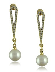 Alloy Imitation Pearl Rhinestone Jewelry Earrings for Women(More Colors)