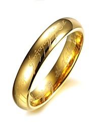 Women's Stainless Steel Ring Titanium Gilded Golden Plated Rings