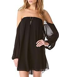 Vestido de tubo holgado de la Mujer
