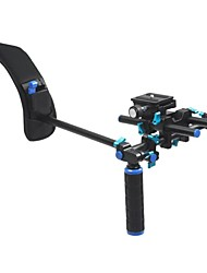 DSLR Shoulder Mount Support Rig with Camera/Camcorder Mount Slider, Shoulder Lift Set.