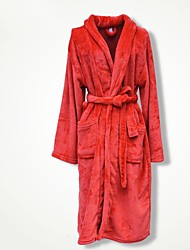 Bath Robe, High-class Red Garment Bathrobe Soft Thicken