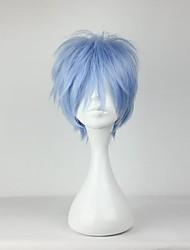 Pelucas de Cosplay Cosplay Kuroko Tetsuya Azul Corto Animé Pelucas de Cosplay 30 CM Fibra resistente al calor Hombre