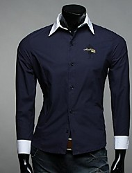 Korean men's casual shirt