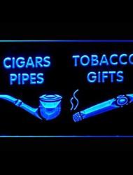 insegna luminosa regali sigari pipe pubblicità led