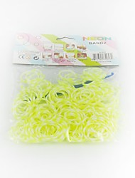 300pcs Yellow Color DIY Rainbow Color Loom Style DIY Twistz Silicone Rubber Band Bracelets