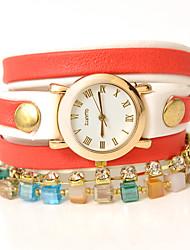 wagen u Mode umwickelt Armband-Uhr der Frauen