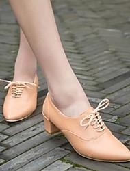 Frauen Chunky Heel Sandaletten mit Spitzschuh Schnürer