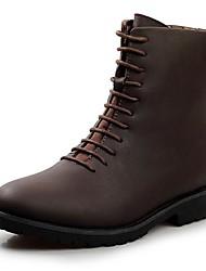 Men's Shoes Casual Calf Hair Boots Black/Brown