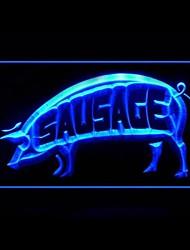 Saucisse Ham Barbecue Publicité LED Connexion