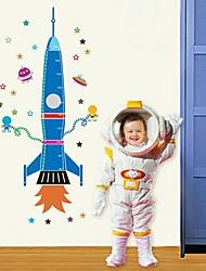 Createforlife® Cartoon Spaceship Dream Kids Nursery Room Wall Sticker Wall Art Decals