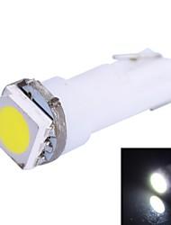 0,25 Вт T5 14LM 1x5050SMD светодиодных Белый Свет для автомобиля Укажите Dashboard Ширина огни (DC 12V 1шт)