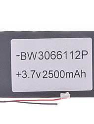 "Substituição Universal 3.7V 2500mAh Bateria Li-polímero para 7 ~ 10 ""Macbook Samsung Acer Sony Tablet PC Apple (03 * 66 * 112)"