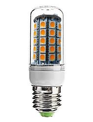 Juxiang E26/E27 7 W 59 SMD 5050 700 LM Warm White Recessed Retrofit Decorative Corn Bulbs AC 220-240 V