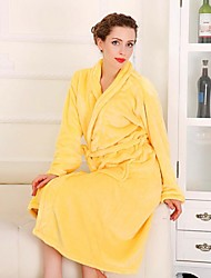 Bath Robe, High-class Woman Egg Yellow Garment Bathrobe Soft Thicken