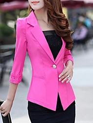cordón del color del caramelo del estilo coreano un botón chaqueta delgada de vestir exteriores de las mujeres