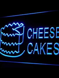 Cheese Cakes Food Desserts Green Blue Red White Orange Purple Yellow Advertising LED Light Sign