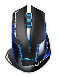 Беспроводная оптическая мышка для видеоигр, E-3LUE MAZER II EMS601 2500 DPI синий LED 2.4GHz (Черный)