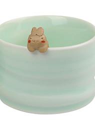 Roman tasse en céramique mignon avec le lapin-Forme Gadget, L8.7cm x W8.7cm x H5.5cm