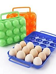 12 encaixes caixas de ovos de plástico (cor aleatória)