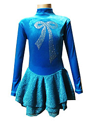 Girl's Blue Spandex Figure Skating Dress(Assorted Size)