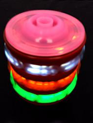 giroscopio musica in legno con luci colorate giocattolo (colore casuale)