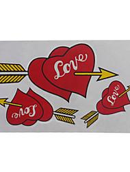 conjunto de pegatinas moto corazón de la imagen