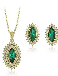 Alliage avec boucles d'oreilles et collier en cristal Pendentifs Parures (y compris le collier, boucles d'oreilles) (plus de couleurs)